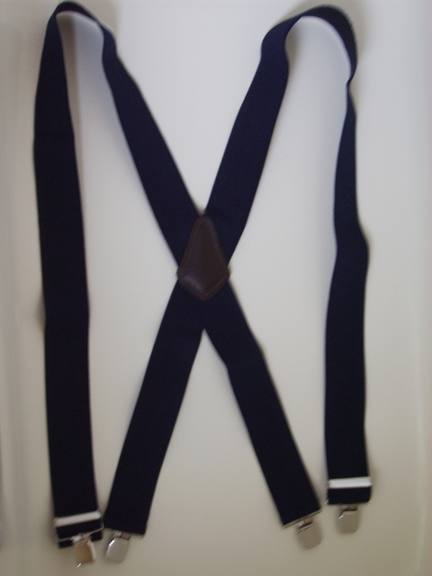 "2"" wide. Assorted SIZES. to fit 5' 1"" to 7' 5"" tall.  Entirely Stretchable Strong Cotton/Polyester Suspenders Has Genuine Leather Patch and Four Stainless Steel Industrial Grips 1.09""x 1.96"" including heavy duty bracket and has two strong Length Adjusters.       X-IA/PA450N-A"