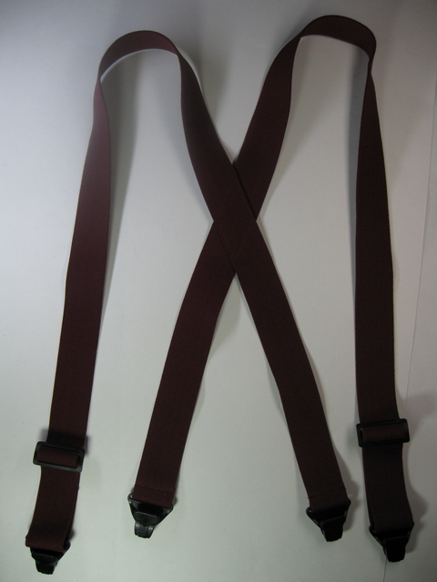 "1 1/2""  ""X"" STYLE. Asstd. SIZES to fit 4' 8"" to 6' 7"" People. All Straps are stretchable Cotton/Polyester Hand Washable-Hang to Dry Material with 4 Strong Gripping Plastic Clips, allows passage through Metal Detectors without Beeping or Buzzing.       PB280K-C1C"