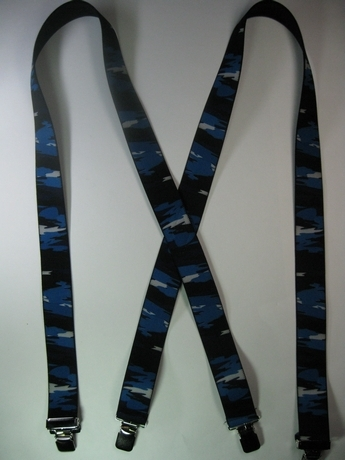 "CAMOUFLAGE 1 1/2"" X 48"" SUSPENDERS With 2 Strong Chrome Adjusters And 4 Grips.  UB220N48SCSK"