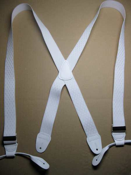"Man's Suspenders ""X"" Style. 1 1/2"" wide. Diamond design Jacquard Series. Button On in ASSORTED COLORS"