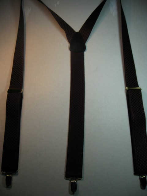 "1 1/2"" wide. ""Y"" Style. Assorted SIZES from 5' 1"" to  7' 4"" Height. (42"" to 60"" long Straps) Deluxe Suspenders-Cotton/Polyester Hand Washable-Hang To Dry Material. With 3 Strong GOLD Grips with Nylon Teeth and 2 GOLD Length Adjusters. CHECKERED PATTERN BURGANDY.        Y-CHE76B-BURG"