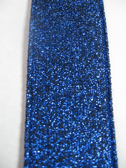 ROYAL BLUE GLITTER &quot;X&quot; STYLE 1 1/4&quot;X48&quot; long &quot;FORMAL WEAR&quot; FRENCH SATIN FINISH  Suspenders  WiTH 4 STRONG  CHROME ADJUSTERS AND GRIPS.  GF760N48ROYA