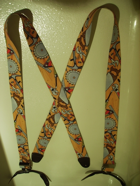 "BUTTON-ON CARPENTER Suspenders 1 1/2"" wide and 54"" long      UB120N54CR#1"