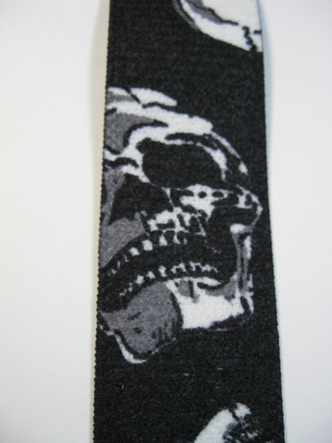 "SKULL Button-On  1 1/2""x 48"" ""Y"" STYLE LEATHER ENDS SUSPENDERS.      YB-UB130N48SKUL"