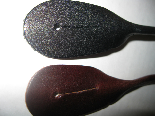 Replacement BROWN  Leather Ears.   One Pair in bag.