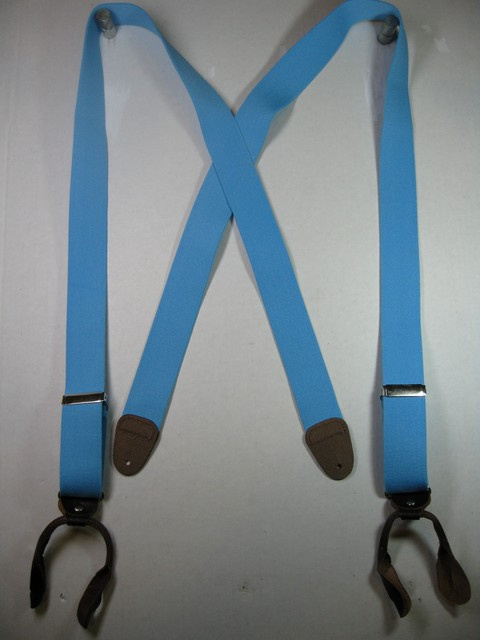 "Man's Suspenders 2"" wide ""X"" Style Button On Assorted colors."