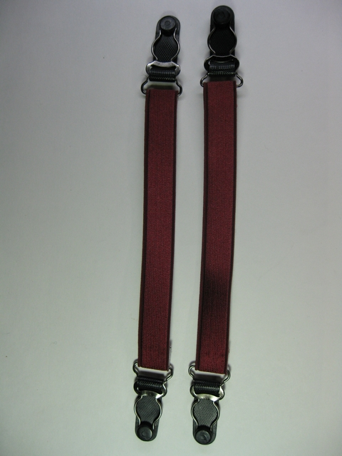 GARTER STYLE STOCKING SUSPENDERS 1 PAIR. CUSTOM LEGNTHS AND COLORS.