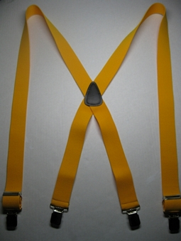 "Mans Work Suspenders 12 colors 1 1/2"" wide with INDUSTRIAL Grips and Leather Back  Patch."