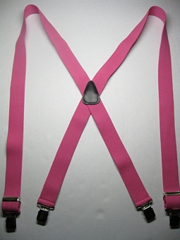 "Man's Suspenders 20 colors 1 1/2"" wide with strong grips and has leather back patch."