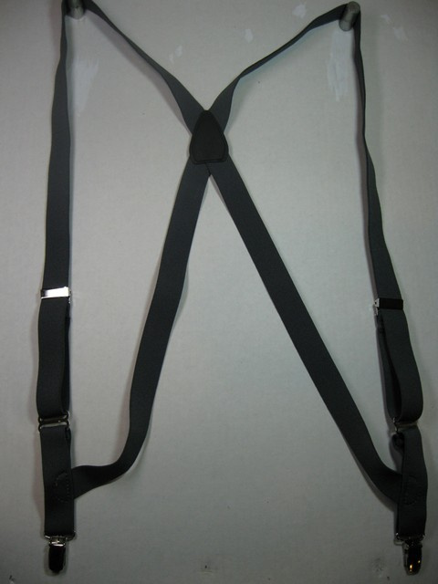 "1"" Wide SIDE GRIP Suspenders. Assorted SIZES for Toddlers to 7' 1"" Tall. LIGHT DUTY FOR DRESSUP OR CASUAL WEAR. All Straps are stretchable Cotton/Polyester Hand Washable-Hang to Dry Material Has 2 CHROME Adjusters in front. With 2 Strong CHROME 1/2"" x 1"" GRIPS with Nylon Teeth.           PCS60N-D2B"