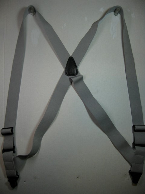 Man's or Ladies Airport Suspenders with plastic clips on sale.Side Grips.
