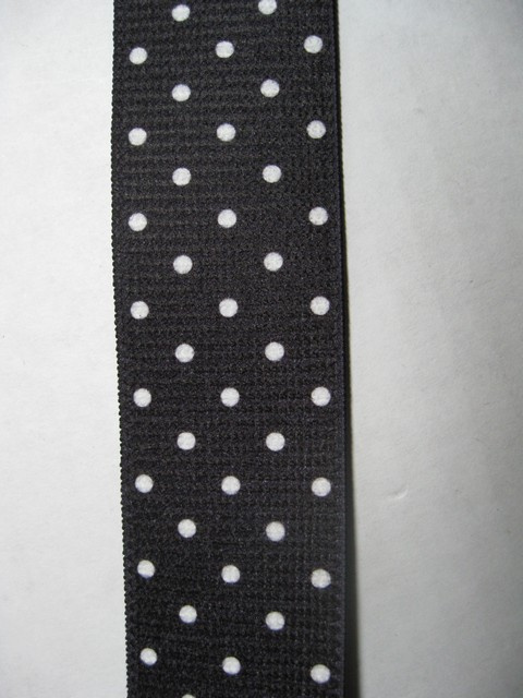 White Poka Dots on Black at Wholesale to the Public Prices!