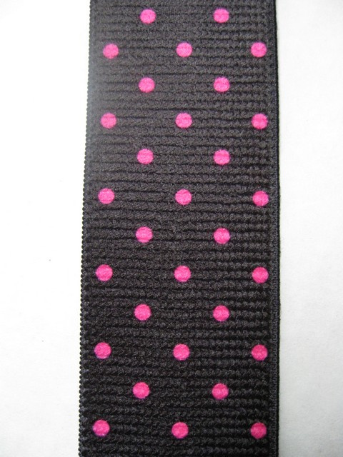 Pink Poka Dots on Black at Wholesale to the Public Prices!