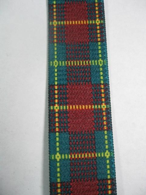 "RED PLAID PATTERN 3/4""x 48"" Suspenders with 4 strong 1/2""x 1"" Grips with nylon Teeth and 2 Length Adjusters in the front and 1 adjuster on the back all in high polish GOLD FINISH.UD760N48PREDg"