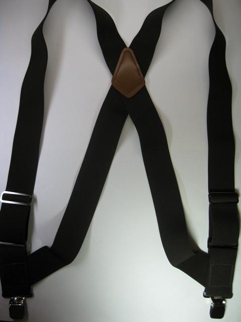 "1 1/2"" wide SIDE GRIP Suspenders  Assorted SIZES to fit 5' 4"" to 7' 1"" People. Fully Stretchable Cotton/Polyester   Material with Two Chrome Adjusters with Two Extra Strong 1""x1"" Strong Stainless Steel Grips. All Straps are stretchable Cotton/Polyester Hand Washable-Hang to Dry Material.        PBS50N-D3A"