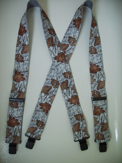 "CAMOUFLAGE Suspenders 1 1/2"" X 48"" With 2 Strong Chrome Adjusters And 4 Grips.UB220N48IMCA"