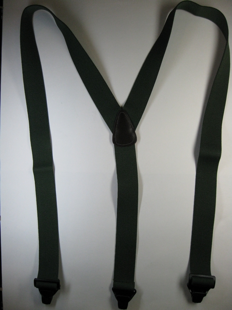 "1 1/2""  ""Y"" STYLE. Asstd. SIZES to fit 4' 8"" to 6' 7"" People. All Straps are stretchable Cotton/Polyester Hand Washable-Hang to Dry Material with GENUINE LEATHER BACK PATCH and 3 Strong Gripping Plastic Clips, allows passage through Metal Detectors without Beeping or Buzzing.       PB480K-C1B"